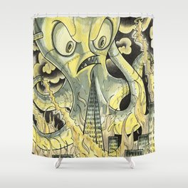 Steamechanical Octopus Shower Curtain