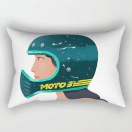 Girl on Helmet Rectangular Pillow