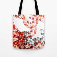 botanical Tote Bags featuring Botanical by Amy Davis