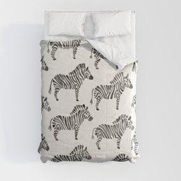 Zebras – Black & White Palette Comforters