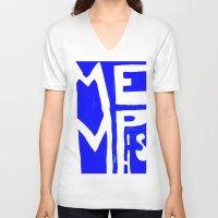 memphis V-neck T-shirts featuring MEMPHIS by John Weeden