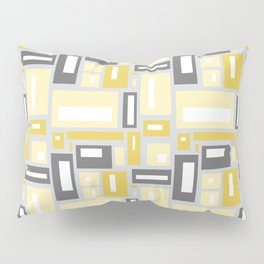 Simple Geometric Pattern in Yellow and Gray Pillow Sham