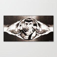 Escher Inspired Spock (Star Trek) Canvas Print