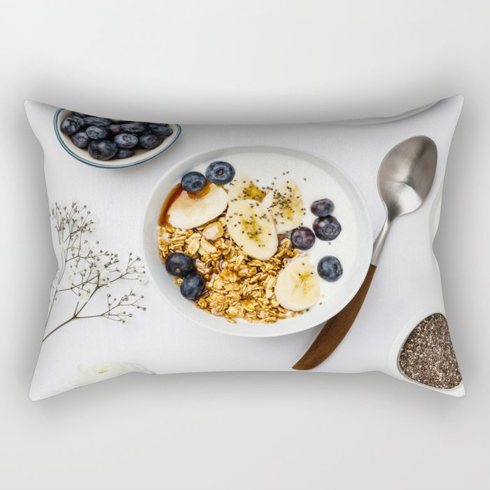 healthy breakfast Rectangular Pillow