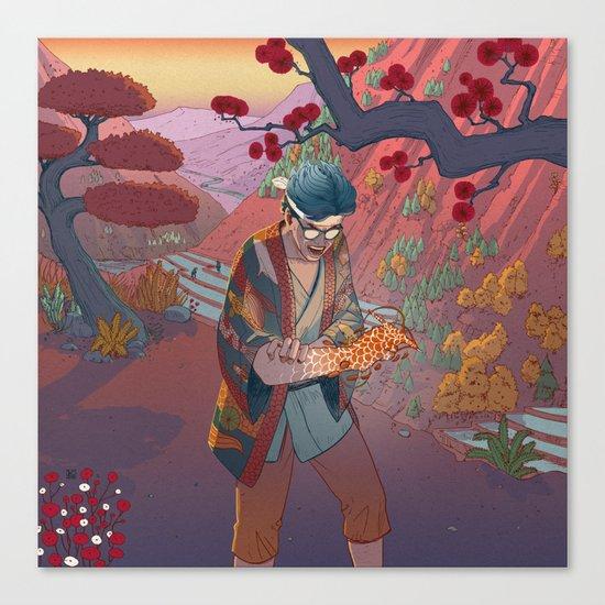 Ukiyo-e tale: The curse Canvas Print