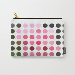 Pink Roses in Anzures 4 Dots Carry-All Pouch