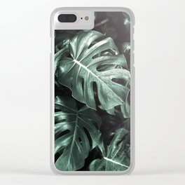 Monstera leaves, Palm Leaf Clear iPhone Case