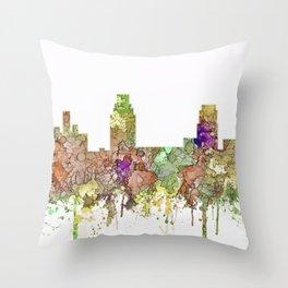 Camden, New Jersey Skyline SG - Faded Glory Throw Pillow