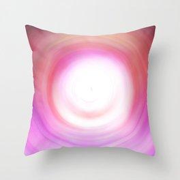 Purple and White Swirl Throw Pillow