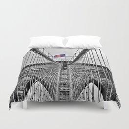 Brooklyn Bridge Black and White Duvet Cover