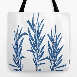 Eucalyptus Branches Blue Tote Bag