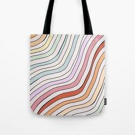 aesthetic wavy striped pattern Tote Bag