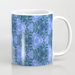 Green and blue flowery pattern Coffee Mug