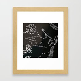 wings of roses Framed Art Print