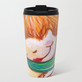 "Reinterpretation of - Henri de Toulouse-Lautrec ""Woman at the attracting of the stockings"" Metal Travel Mug"