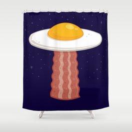 Eggstraterrestrial Shower Curtain