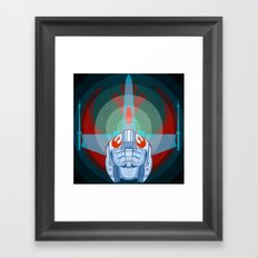 Red leader standing by Framed Art Print