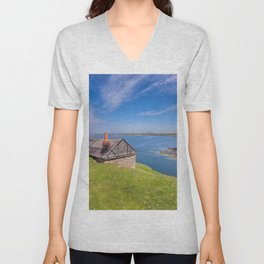 Fisherman`s Hut Unisex V-Neck