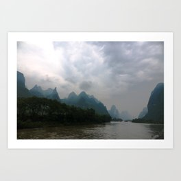 Li River in the Rain Art Print
