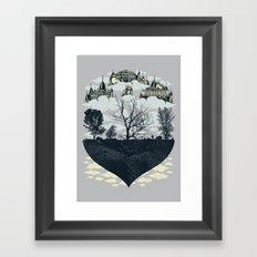 Ever Higher And More Remote Framed Art Print