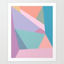 Fractured Triangles in Playful Color Art Print