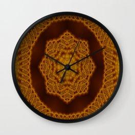 Macrame fractal Wall Clock