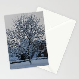The quiet place in snow Stationery Cards