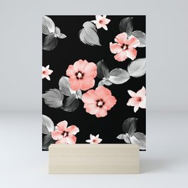 Living Coral Floral Dream #1 #flower #pattern #decor #art #society6 Mini Art Print