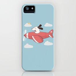 Kawaii Cute Dog Flying Airplane iPhone Case