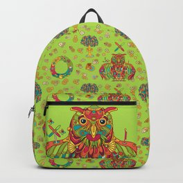 Owl, cool art from the AlphaPod Collection Backpack