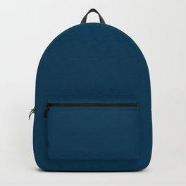 Dark Teal Blue Solid Color Backpack