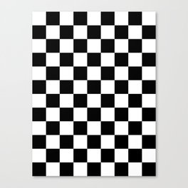 Checkered - White and Black Canvas Print