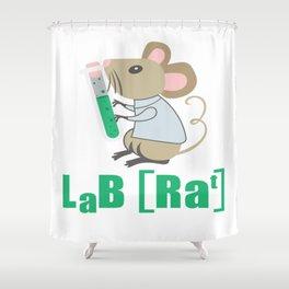 Lab Rat Science Chemistry Teacher Student Gift Shower Curtain