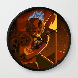 mars astronaut exploration Wall Clock