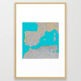 Iberia Peninsula Framed Art Print
