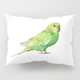 Geometric green parakeet Pillow Sham