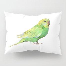 Geometric green parakeet Pillow Sham