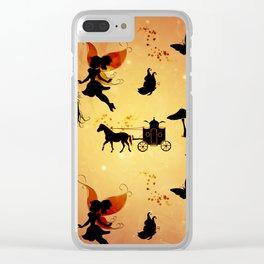 Cute fairy pattern Clear iPhone Case