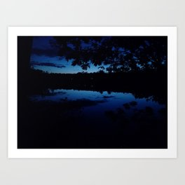 Night at the Grover Place Art Print