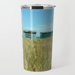 Beach Huts Relaxation Travel Mug