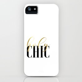 PRINTABLE ART, digital download, typography print, holy chic,printable wall iPhone Case