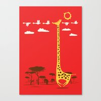 ilovedoodle Canvas Prints featuring I'm Like A Bird by I Love Doodle