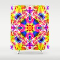 kaleidoscope Shower Curtains featuring Kaleidoscope by Assiyam