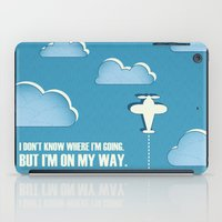 sagan iPad Cases featuring On My Way by Katherine Paulin