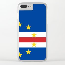 Cape Verde Flag Clear iPhone Case