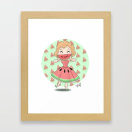 Watermelon Smile Framed Art Print