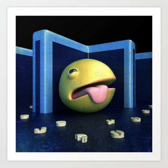 No more pills ft. Pac-Man Art Print