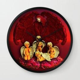 #Christmas Angels Wall Clock
