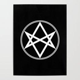 Men of Letters Symbol White Poster