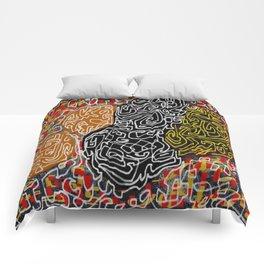 Laberinto graffiti Comforters